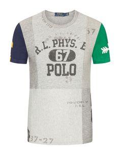 Polo Ralph Lauren Modisches T-Shirt in melierter Optik grau – Hirmer  Herrenmode Camisetas 13c4767143235
