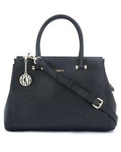 DKNY Handtasche mit abnehmbarem Umhängeriemen - schwarz  Jetzt auf kleidoo.de bestellen!  #kleidoo #trend #fashion #bags #taschen #black #dkny