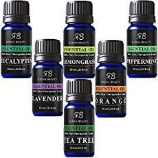 Radha Beauty Aromatherapy Top 6 Essential Oils 100 Pure Therapeutic grade Basic Sampler Gift Set Premium Kit 610 Ml Lavender Tea Tree Eucalyptus Lemongrass Orange Peppermint *** You can get additional details at the image link. Radha Beauty Essential Oils, Top Essential Oils, Essential Oil Diffuser, Essential Oil Blends, Cystic Acne Treatment, Spot Treatment, Nail Treatment, Home, Aromatherapy