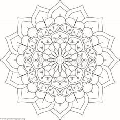 Flower Mandala Coloring Pages Heart Coloring Pages, Cartoon Coloring Pages, Mandala Coloring Pages, Colouring Pages, Coloring Books, Hippie Painting, Mandala Art Lesson, Printable Adult Coloring Pages, Doodle Coloring