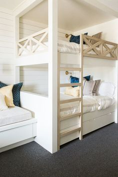 When you select your bunk beds, you should then always think of the most appropriate portion of the room to set them. The bunk beds are so helpful for elders also. Bunk beds for… Continue Reading → Bed Design, Bedroom Design, Bedroom Loft, Loft Bed, Bed, Loft Spaces, Bunk Bed Rooms, Boys Bedrooms, Bunk Beds Built In
