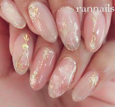 Korean Nail Art, Korean Nails, Bridal Nails, Wedding Nails, Trendy Nails, Cute Nails, Pink Nails, Gel Nails, Japanese Nails