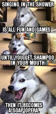 Humorvolle Hundebilder und Meme Humorous dog pictures and memes Funny Dog Jokes, Puns Jokes, Corny Jokes, Dog Quotes Funny, Stupid Funny Memes, Funny Relatable Memes, Puns Hilarious, Dad Jokes, Memes Humor