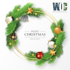 Beautiful christmas frame with branches and ornaments Free Vector Wish You Merry Christmas, Merry Xmas, Beautiful Christmas, Christmas Jesus, Christmas Greetings, Christmas 2019, White Christmas, Christmas Frames, Christmas Ornaments