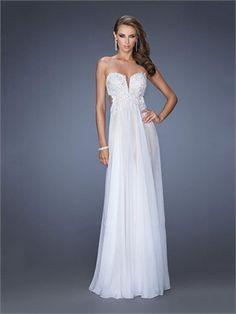 Gorgeous Deep Sweetheart Cutout Back Lace Chiffon Prom Dress PD11511