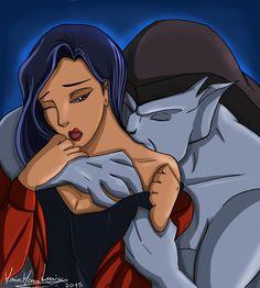 Elisa and Goliath hug kiss by Aniyumex