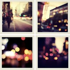 "Trever Hoehne, ""City"" from Blurry Things Nice Photography, Abstract Photography, Polaroid Pictures, Polaroids, Blurry Lights, Picture Boxes, Street Beat, Choose Life, Light Of Life"