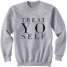 Treat Yo Self Sweatshirt 5 Seconds of Summer Music Fans Fangirl One... ($24) ❤ liked on Polyvore featuring tops, black, sweatshirts, women's clothing, crew shirt, roll up shirt, woven shirts, crew-neck shirts and patch shirt