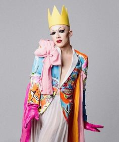Sasha Velour's Tribute to Queer NY Art / colorful / queer fashion / yes queen / alternative
