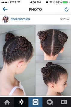 Braided buns                                                                                                                                                                                 Mais