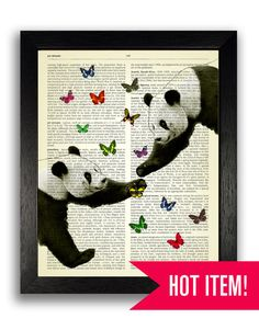 Hey, I found this really awesome Etsy listing at https://www.etsy.com/au/listing/228961216/panda-love-art-print-pandas-butterflies