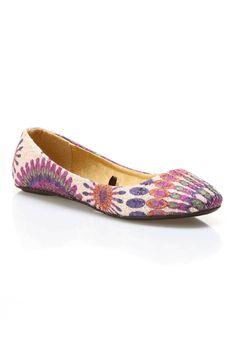 Blue Suede Shoes Dash Print Ballet Flat In Purple