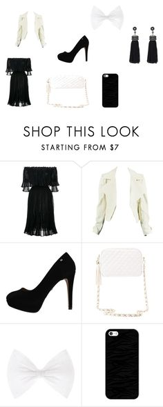 """BLACK AND WHITE"" by zvac-anca-teodora ❤ liked on Polyvore featuring Alexander McQueen, Charlotte Russe, Casetify and Nush"