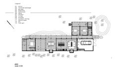 L-shaped beach house plan simplicity design