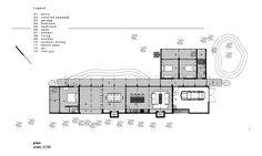 L-shaped beach house plan simplicity design