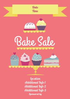 Bake Sale Printables Sweet Save Now For When You Have A Bake