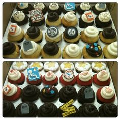 Over the Hill cupcakes from work
