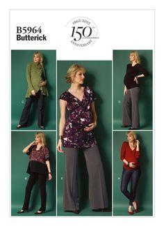 6b2c2c81616 UNCUT Maternity Pants Sewing Pattern Butterick 5964 by SewPatterns Maternity  Sewing, Maternity Patterns, Maternity