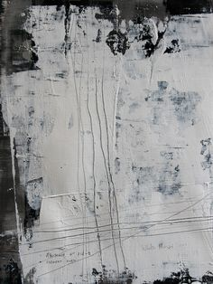 "Koen Lybaert; Oil 2013 Painting ""abstract N° 718-1 [white noise 1]"""