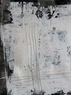 """Koen Lybaert; Oil 2013 Painting """"abstract N° 718-1 [white noise 1]"""""""