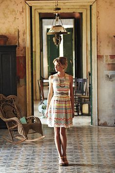Anthropologie - Sunglow Stripes Dress from Anthropologie. Saved to Dresses. Fashion Fotografie, Striped Dress, Patterned Dress, Pretty Dresses, Amazing Dresses, Spring Summer Fashion, Dress To Impress, Style Me, Cute Outfits