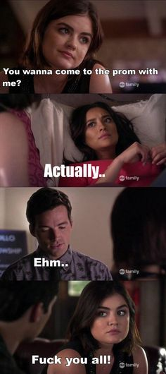 aria montgomery, ashley benson, clothes, cool, emily fields, ezra fitz, funny, hair, hate, ian harding, liars, life, lucy hale, pll, pretty little liars, prom, shay mitchell, spencer hastings, swag, troian bellisario, tv series, tyler blackburn