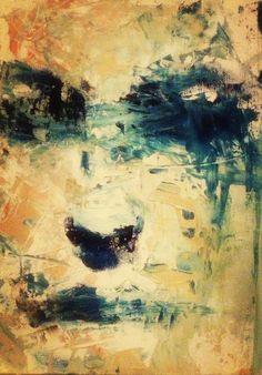 """Huile sur bois 30x30 ... """" la surprise"""" Painting, Painting Art, Paintings, Painted Canvas, Drawings"""