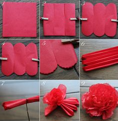 $Fleurs de Papier ~クラフトパンチや花紙で作る立体のお花いろいろ~-お花紙でカーネーション