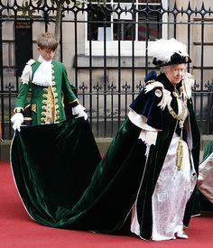 The Queen, wears the traditional robes, as she enters St Giles' Cathedral on the Royal Mile in for the annual Thistle Service Lady Diana, Order Of The Garter, English Royalty, Queen Mother, British Monarchy, Outfits With Hats, Queen Elizabeth Ii, British Royals, How To Look Pretty
