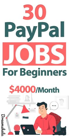 30 PayPal Jobs for beginners- $4000 per month. #paypal #paypaljobs #onlinejobs #jobsforbeginners #jobsthatpaythroughpaypal #getpaidviapaypal #dreamshala #paypalonlinejobs #easyonlinejobs #workfromhomejobs Earn Money From Home, Make Money Blogging, Make Money Online, Easy Online Jobs, Online Work, Ways To Get Money, How To Get Money, Amazon Jobs, Successful Online Businesses