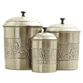 Found it at Wayfair - Victoria 3 Piece Canister Set  Love it for the kitchen counter!
