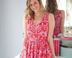 Sis Boom Angie Dress, Fácil vestido de las mujeres del patrón PDF E-Book - con Costurera Científico