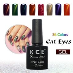 KCE Brand UV glue Nail Polish Manicure LED Cats Eye 36 Color 10 ml Healthy cat eye nail And Green Plastic paint Made In China♦️ SMS - F A S H I O N  http://www.sms.hr/products/kce-brand-uv-glue-nail-polish-manicure-led-cats-eye-36-color-10-ml-healthy-cat-eye-nail-and-green-plastic-paint-made-in-china/ US $1.76