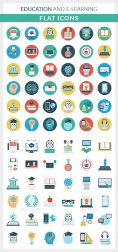 Education and E-learning Icons