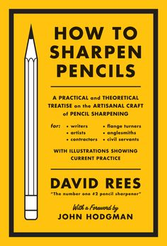 How to Sharpen Pencils  Design by Christopher King