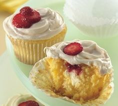 Strawberry-Cream Cheese Cupcakes by Betty Crocker Recipes, via Flickr