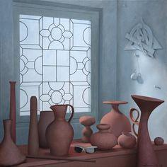"""window/709"" 70 x 70, acrylic on canvas, 2011"