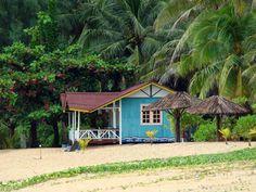 Turquoise Beach Hut Lakeside Cottage Decor Cozy Surf Shack