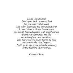 ― Caitlyn Siehl, What We Buried