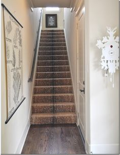 Antelope carpet up the stairs.    My Interior Life: Where the Antelope Play