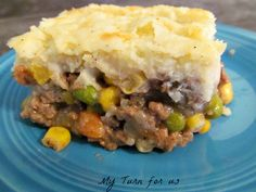 Healthy Makeover Shepherds Pie Recipe with red potato, low-fat milk, reduced fat cream cheese, salt, black pepper, ground beef, onions, carrots, celery ribs, dry white wine, fresh thyme leaves, frozen peas, frozen corn