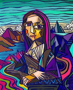 Wave Drawing, Abstract Face Art, Rendering Art, La Madone, Cubism Art, Van Gogh Art, Arte Pop, Art Plastique, Portrait Art