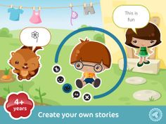 I have a really cute app to share with you today. You get to create, read, and share illustrated stories. The app is called Toonia Storymaker. This app is for kids.