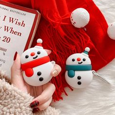 Christmas Snowman Apple Airpods Case for Cute Snowman, Christmas Snowman, Christmas Ornaments, Edible Glitter, Air Pods, Gadgets And Gizmos, Airpod Case, Iphone Accessories, Bluetooth Headphones