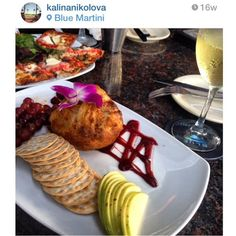 Have you tried our Baked Brie!? #SundayFunday #bluemartini #bluemartiniFTL #patiobar #brie #cheese #wineandcheese #happyhour #appetizer #delicious #repost Thank you for the photo @kalinanikolova