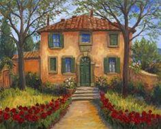 chianti toscana pottery | JM--- Tuscan Chianti Village - blue sky JM---Cortona