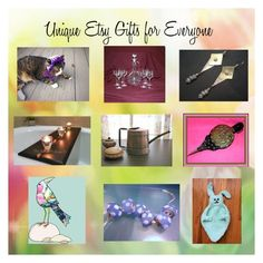 """""""Unique Etsy Gifts for Everyone"""" by afloralaffair-1 ❤ liked on Polyvore featuring interior, interiors, interior design, home, home decor, interior decorating, rustic and vintage"""
