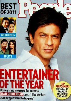 Bollywood actor ShahRukh Khan named Entertainer of the Year 2011, People cover