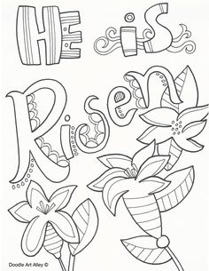 "Easter Coloring Page For Kids, ""He is Risen"" The Blog has"