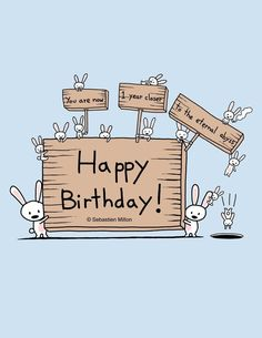 Happy Birthday by sebreg.deviantart on - Happy Birthday Funny - Funny Birthday meme - - Happy Birthday by sebreg.deviantart on The post Happy Birthday by sebreg.deviantart on appeared first on Gag Dad. Happy Birthday Bunny, Cute Birthday Wishes, Happy Birthday Greeting Card, Happy Birthday Quotes, Happy Birthday Images, Birthday Messages, Funny Birthday Cards, Birthday Pictures, Belated Birthday